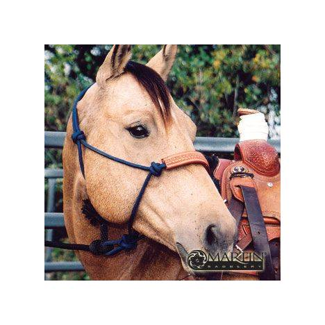 Martin Saddlery Rope Halter with Tooled Leather