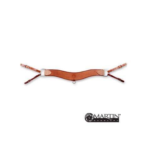 Martin Saddlery 4'' Steer Roper Breast Collar - Basket Stamp