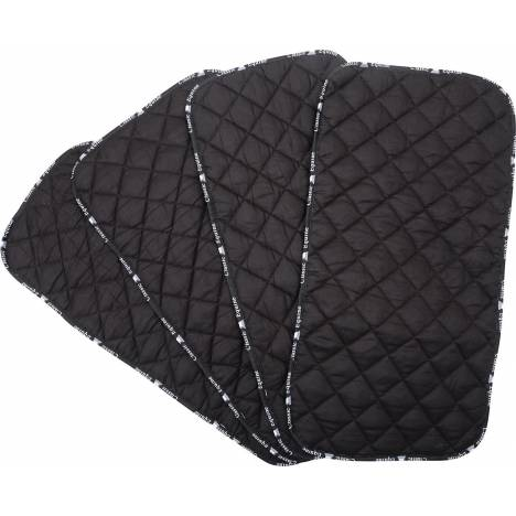 Classic Equine Quilted Standing Wraps - Black, Set of 4