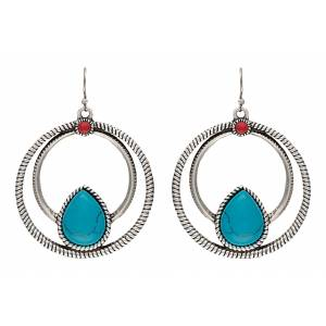 Rock 47 Campfire Coals Spark Double Loop Earrings