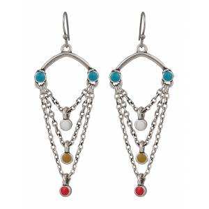 Rock 47 Vintage Kitsch Looped Chains with Beads Earrings