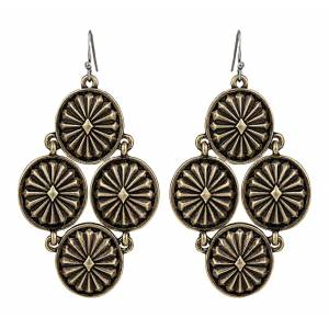 Rock 47 Points of Aztec Starburst Cluster Earrings