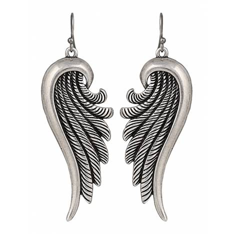 Rock 47 Tattoo Art Sculpted Rope Wings Earrings