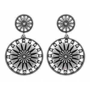 Rock 47 Vintage Kitsch Flower Sunburst Earrings