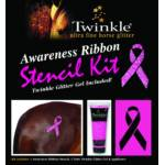 Twinkle Awareness Ribbon Stencil Kit