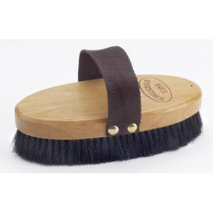 Equi-Essentials Wood Backed Horshair Body Brush