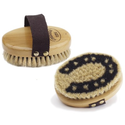 Equi-Essentials Wood Backed Horsehoe Horsehair Body Brush