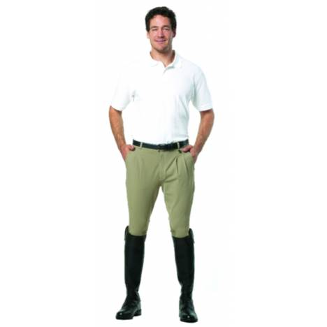 Ovation Mens Euroweave Pleated Knee Patch Riding Breeches