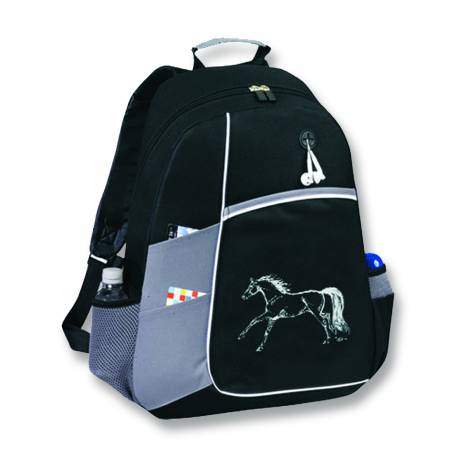 Kelley Horse Backpack - Black/Grey