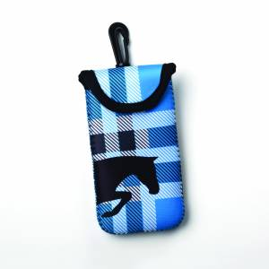 Kelley Tek Trek Neoprene Smartphone Case - Blue Plaid Jumper