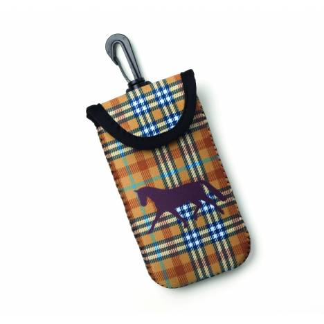 Kelley Tek Trek Neoprene Smart Phone Case - Brown Plaid Dressage