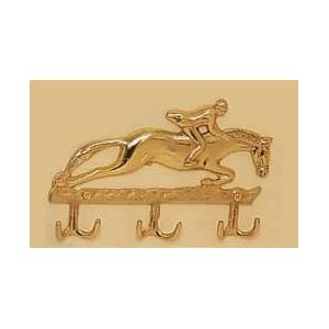 Horse Fare Jumper Key Rack-Brass