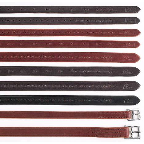 "Horse Fare Domestic Leather Stirrup Leathers with 1/2"" Holes"