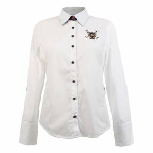 Horseware Polo Aurore Shirt - Ladies, White/Cherry