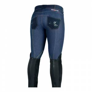 Horze Ladies Silvia Self Patch Knee Patch Denim Breeches