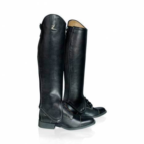 Horze Adult Leather Half Chaps with Contrast Stitching