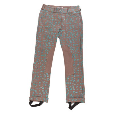 Daisy Clipper Riding Pant with Horseshoe - Kids, Euro Seat