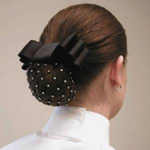 Diamond Hair Accessories Rhinestone Net Hair Bow