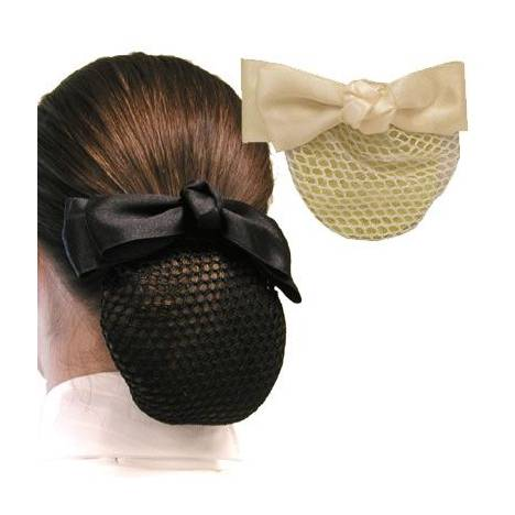 Diamond Hair Accessories Knotted Center Satin Bow with Hair Net