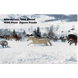 Intrepid Wild Horses in Winter Puzzle