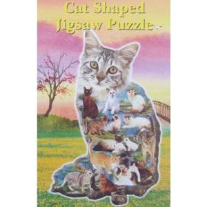 Intrepid Cat Shaped Puzzle
