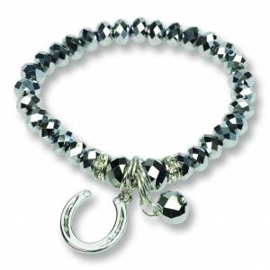 Kelley Glass Pearl Horseshoe Necklace