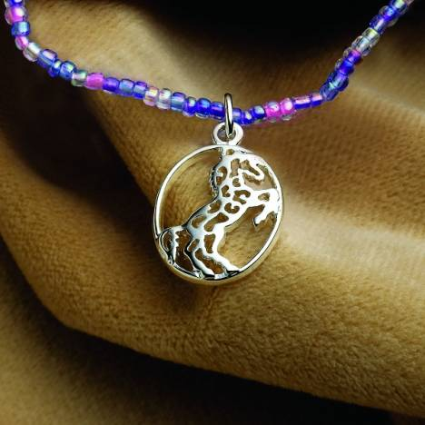KY Rearing Horse Beaded Necklace