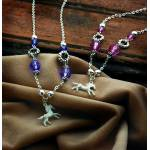 KY White Horse Necklace with Charms