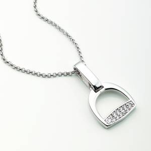 Kelley Cubic Zirconia Stirrup Necklace