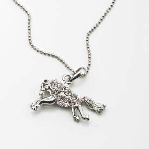 Kelley Running Horse with Rhinestones Necklace