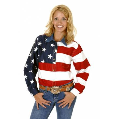 Roper American Flag Western Shirt - Ladies