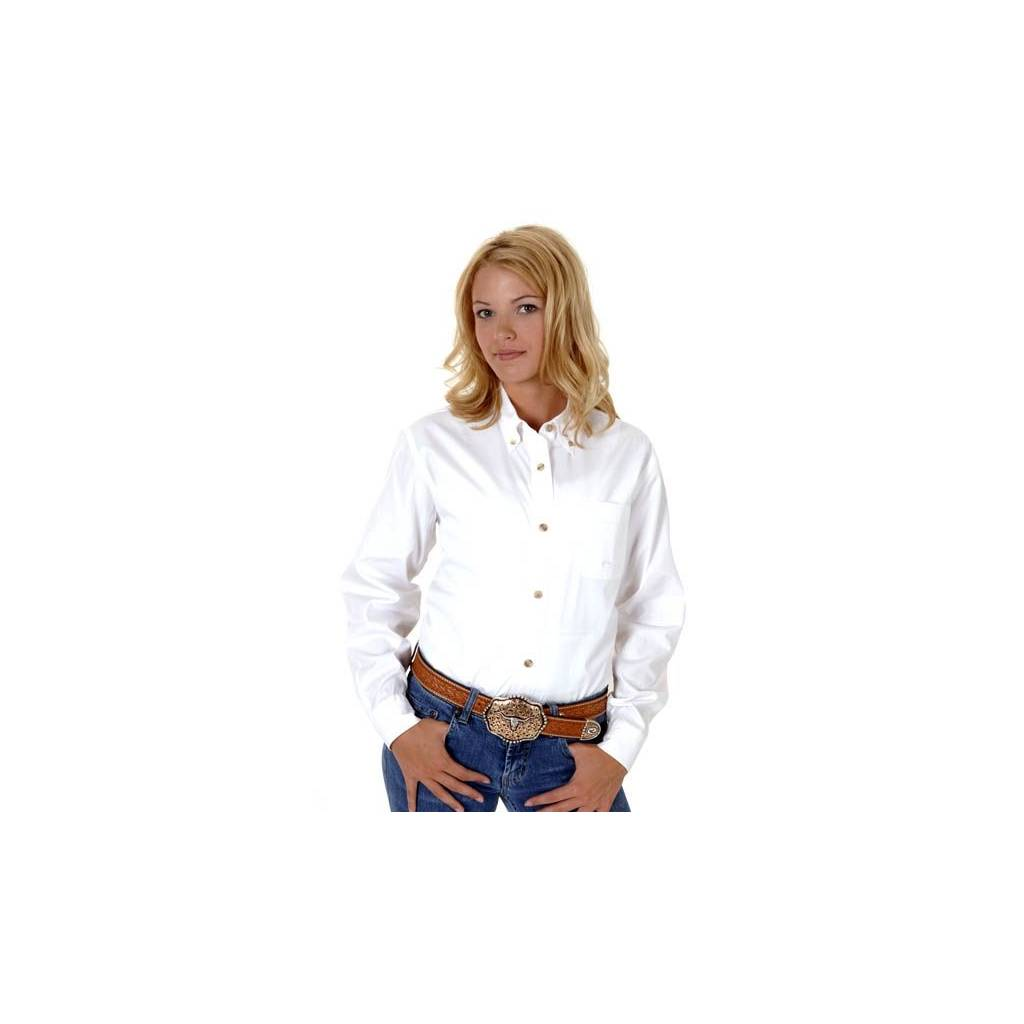 a91c05cf678 White Button Down Collar Womens Shirt