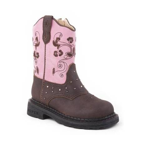 Roper Dazzle Lights Western Boots - Infant/Toddler Girls