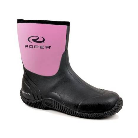 Roper Neoprene Barn Boots - Ladies, Pink