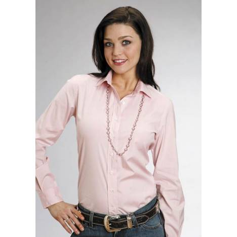 Stetson Solid Long Sleeve Shirt - Ladies, Pink