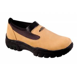 Roper Oiled Leather Slip On Shoes - Mens, Brown