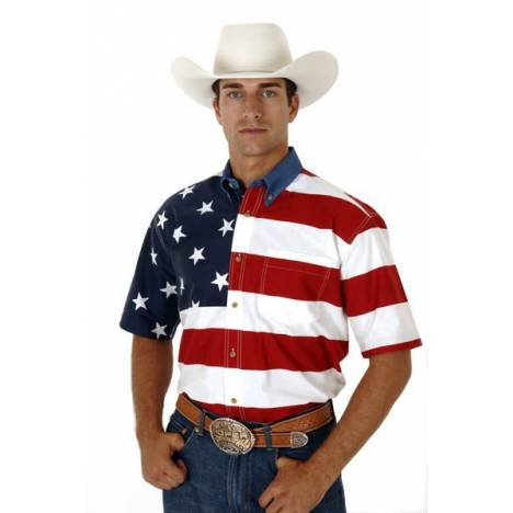 Roper American Flag Shirt - Mens, Short Sleeve