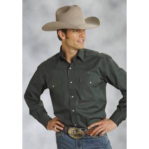 Roper Poplin Shirt - Mens, Long Sleeve, Green