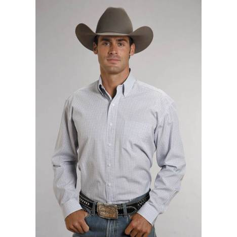 Stetson Button Down - Mens, Long Sleeve, Blue Check