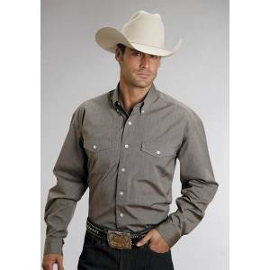 Stetson Button Down - Mens, Long Sleeve, Brown