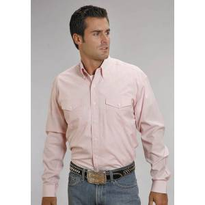 Stetson Button Down - Mens, Long Sleeve, Pink