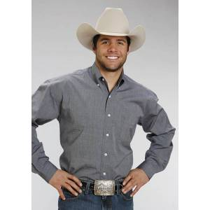 Stetson Button Down - Mens, Long Sleeve, Dark Blue