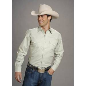Stetson Pinpoint Oxford Shirt - Mens, Long Sleeve, Green