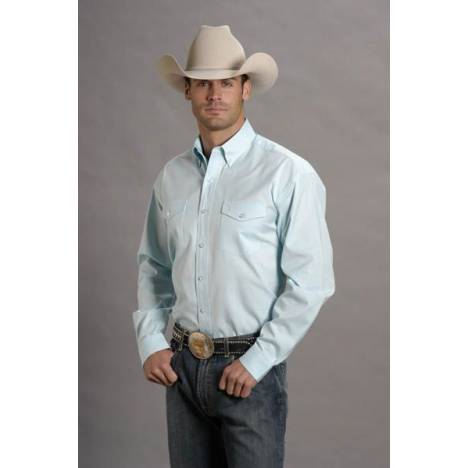 Stetson Pinpoint Oxford Shirt - Mens, Long Sleeve, Lt Blue