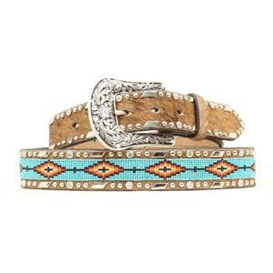 Ariat Beaded Ribbon Belt - Ladies, Brown
