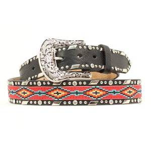 Ariat Beaded Ribbon Belt - Ladies, Black