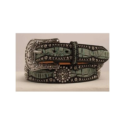 Ariat Faux Gator Belt - Ladies, Green