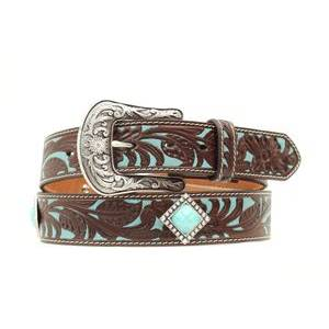 Ariat Turquoise Underlay Belt - Ladies, Brown