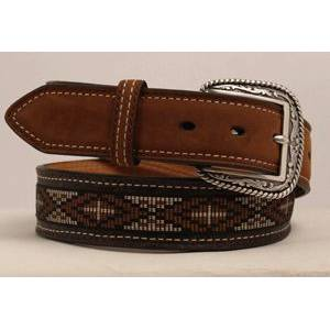 Ariat Cross Concho Ribbon Belt - Mens, Brown