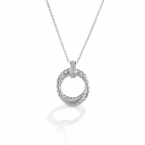 Kelly Herd Clear Rope Pendant - Sterling Silver
